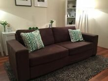 Brown 3 Seater Fabric Sofa RRP $1299 Ballajura Swan Area Preview