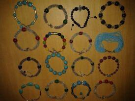 400 Tibetan Silver bracelets, shop market craft fair stock