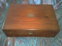 Bijouterie Antique, Jewellery display case box and 2 trays