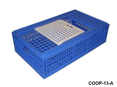 2 Pack - Game Bird Transport Crates Poultry Cage Economy Coop 13