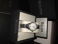 womens, diamond encrusted Bulova watch