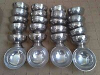 24 x Stainless Steel Sundae dishes, high quality