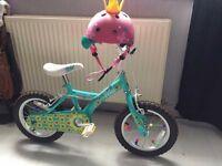 Kids bike and princess helmet