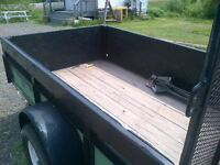 utility trailer 5 X 8 feet , full size wheels ''Triple Crown''