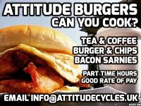 Burger Van Cook Required