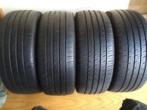 Set of 4 235/65/18 Michelin 70% tread