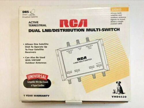 RCA Dual LNB/Distribution Multi-Switch Universal up to 4 Receivers NEW VHD6520