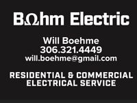 Bohm Electric - Licensed, Bonded, Insured, Free quotes!