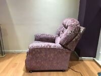 2 Arm chair Sofa's 1 reclining( Adjustable footing) 1 normal, Same Design