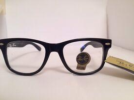 Ray Ban Wayfarer Clear Lens Glasses RB2140 (gloss black)