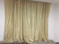 beautiful design Satin curtains with pattern