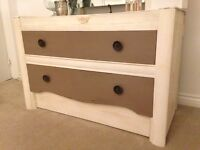 Dressing table drawers unit pine shabby chic