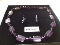 Amethyst chain and Earings NEW