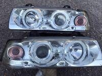 BMW E36/compact angel eye headlights