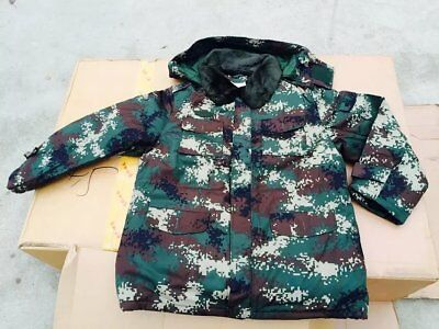 Winter Chinese PLA Type 07 BDU ACU Woodland Camo Cotton Overcoat