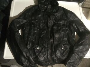 $20 women's small leather coat Small