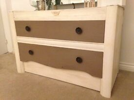 Drawers unit dresser pine shabby chic