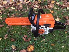 """Stihl MS 170 Chainsaw 2 Stroke 11"""" Bar 2004 Chain Saw Tree Cutting Garden Wood"""
