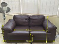 2 Seater Leather Effect Sofa in brown from Argos
