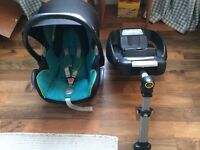 Maxi cosi car seat and isofix base 0-9 months