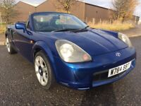 2000 TOYOTA MR2 1.8 VVTI 2 DR ROADSTER IMMACULATE NEW ALTERNATOR £400