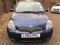 TOYOTA YARIS 1.3,T-SPIRIT AUTOMATIC 2004, VERY LOW MILEAGE, MINT CONDITION,FULL SERVICE, LADY OWNER