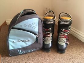 Ski boots and bag