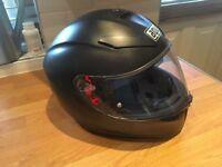 AGV K3 SV Sunvisor Pinlock Motorcycle Helmet, Matte Black, Small