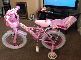 "Girls 12""Apollo cupcake daisy bike with accessories"