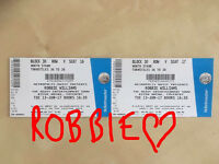 Robbie Williams & Erasure 2 x seated tickets Coventry
