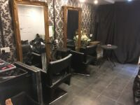 Hairdressing chair and beauty room to rent.