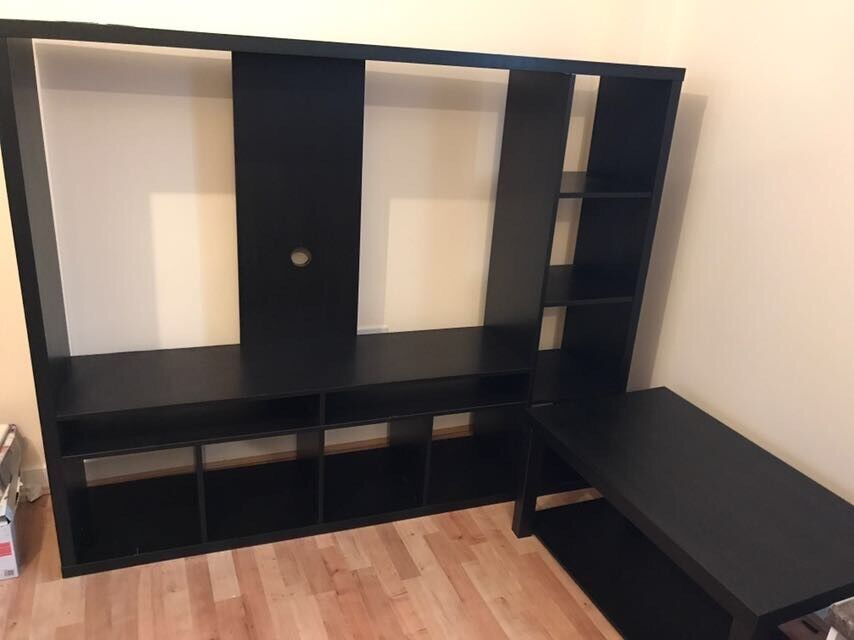 Tv stand media unit plasma tv coffee table cabinet free