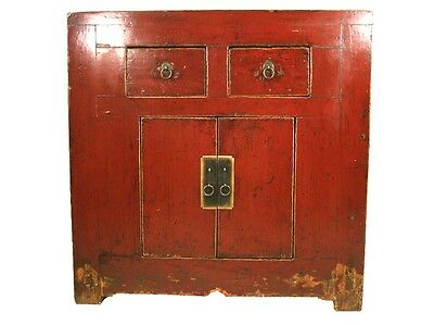 Купить A Chinese Antique Red Lacquer Color Wood Chest 33.8 H x 33.2 W in. 2 Drawers