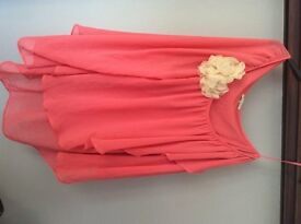 River Island size 18 one shoulder coral top