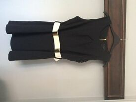 River Island size 18 black dress with attached belt