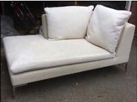 White chaise longue