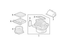 Replacment Cabin Air Filter Element fits 2007-2008 Honda