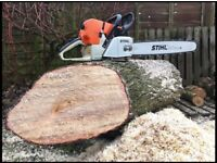 Stihl MS460 Professional petrol chainsaw fitted with new 25' Stihl bar and chain