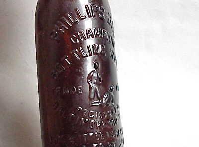 Antique Phillip's Bros Champion Bottling Works Beer Bottle Baltimore MD