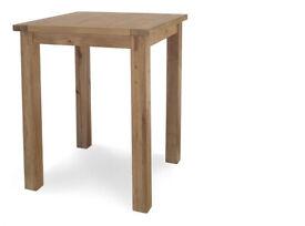 John Lewis Oak breakfast table with high stools