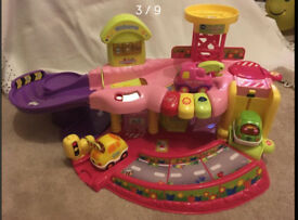 Large number of Vtech Toot-Toot Sets, Vehicles and Track
