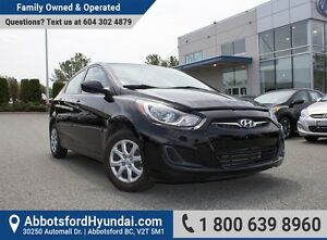 2013 Hyundai Accent GL MANUAL TRANSMISSION, ONE OWNER & BC OWNED