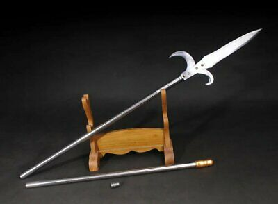War Long Collapsible Chinese Fighting Combat Wushu Polearm Halberd Spear Weapon