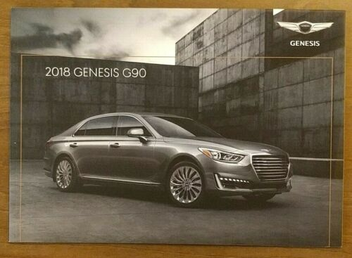 2018 GENESIS G90 Sales Brochure Catalog US 18 Hyundai Equus 5.0 Ultimate