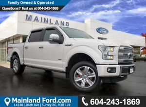2015 Ford F-150 Platinum NO ACCIDENTS, LOCAL, LOW KMS