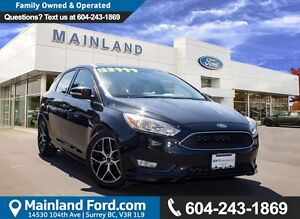 2015 Ford Focus SE LOCAL, ONE OWNER