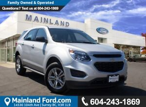 2016 Chevrolet Equinox LS LOCAL, LOW KMS, NO ACCIDENTS