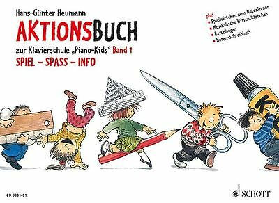 Aktionsbuch zur Klavierschule Piano Kids - Band 1 - Heumann