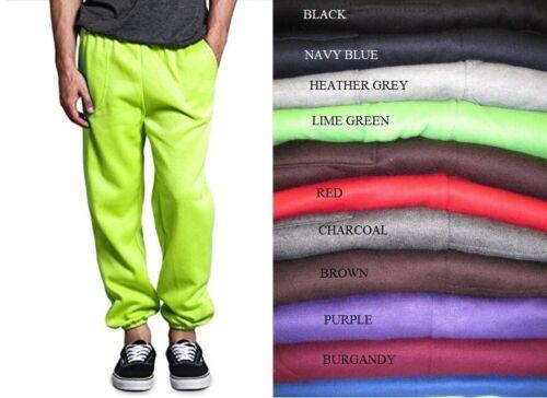 Mens Fleece 3 Pocket Sweatpants Gym Sports Workout Sweat Pants S-5xl