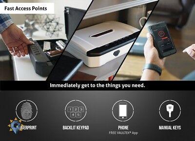Fingerprint Safe Biometric Gun Handgun Pistol Smart Car Box Home Lightweight New